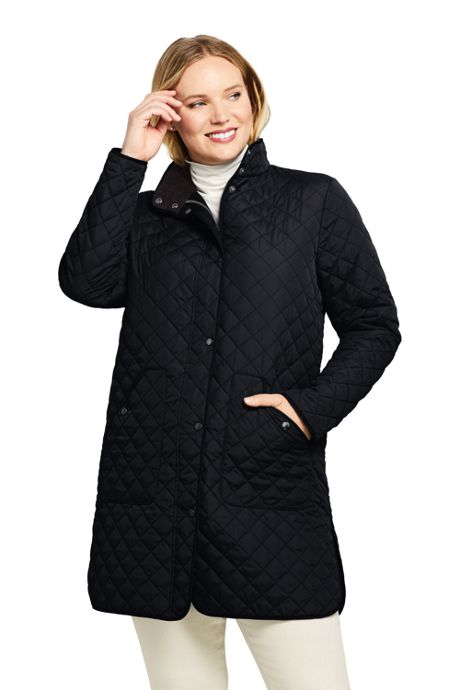 Women's Plus Size Petite Insulated Quilted Barn Coat