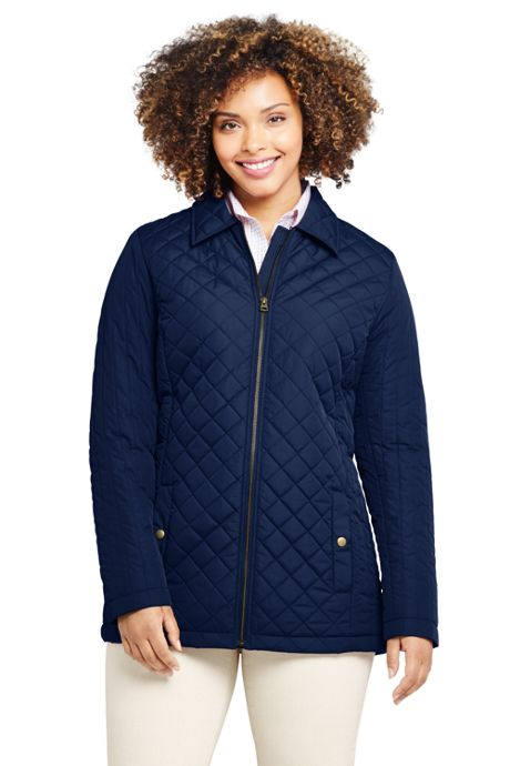 Women's Plus Size Petite Insulated Quilted Barn Jacket
