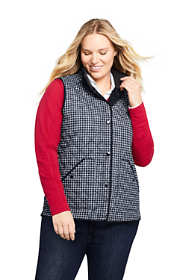 Women's Plus Size Print Insulated Quilted Barn Vest