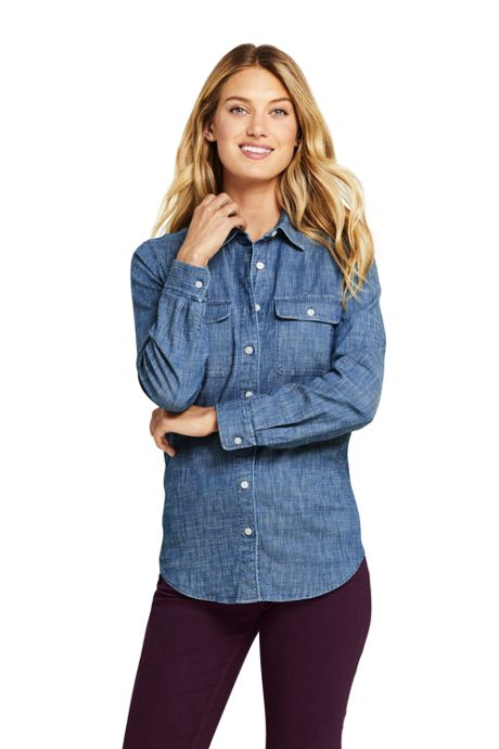 Women's Denim Stripe Shirt