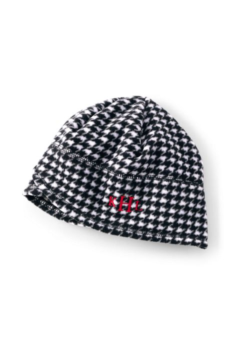 Women's Fleece Winter Beanie Hat - Print
