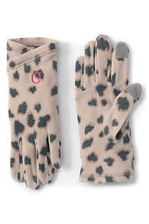 Women's Fleece Winter Gloves - Print, Front