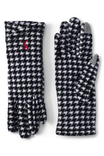 Gemusterte Fleecehandschuhe für Damen