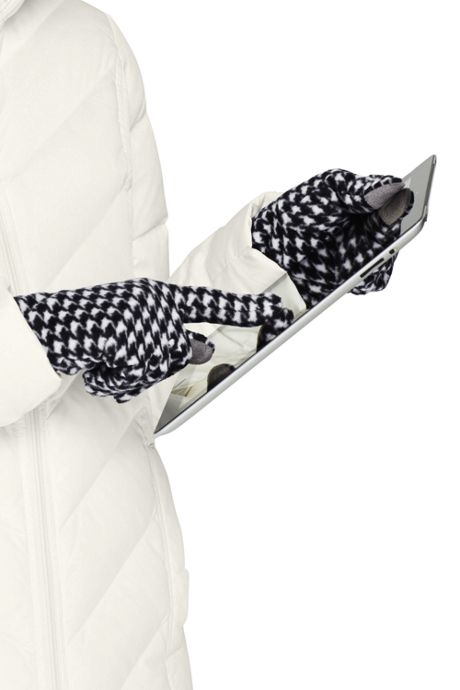 Women's Fleece Winter Gloves - Print