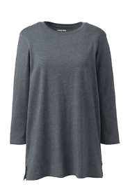 Women's Plus Size 3/4 Sleeve Cotton Supima Crew Neck Tunic