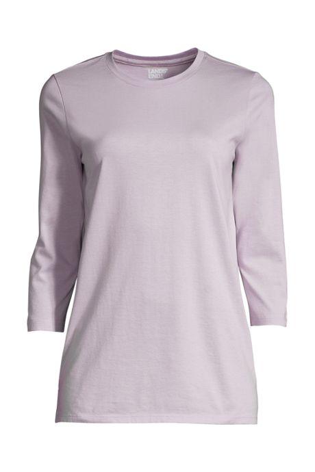 Women's 3/4 Sleeve Cotton Supima Crew Neck Tunic