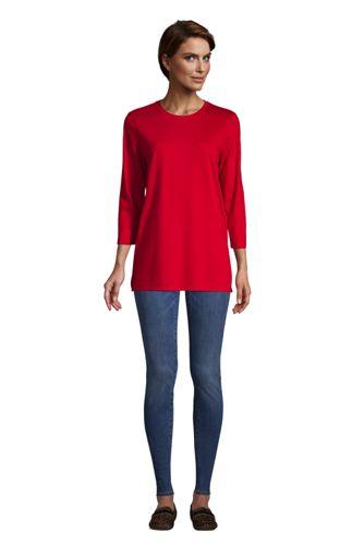 Women's 34 Sleeve Cotton Tunics, Women's Cotton Tunic Tops