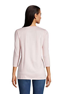 Women's 3/4 Sleeve Supima Cotton Crewneck Tunic, Back