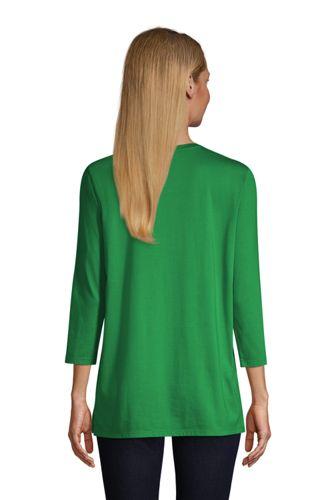 Women's 3/4 Sleeve Supima Cotton Crewneck Tunic