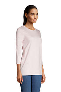 Women's 3/4 Sleeve Supima Cotton Crewneck Tunic, Unknown