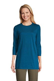 Supima-Shirt mit 3/4-Ärmeln für Damen