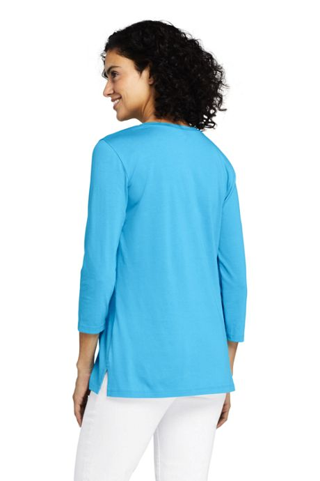 Women's 3/4 Sleeve Supima Cotton Crew Neck Tunic