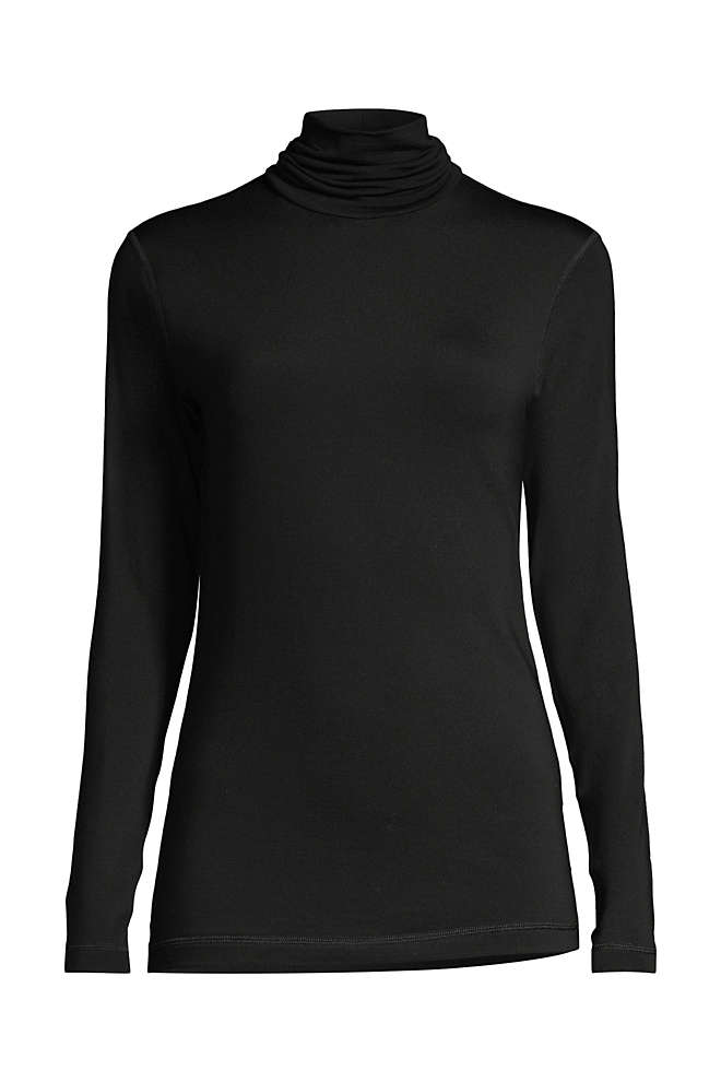 Women's Natural Thermaskin Turtleneck, Front