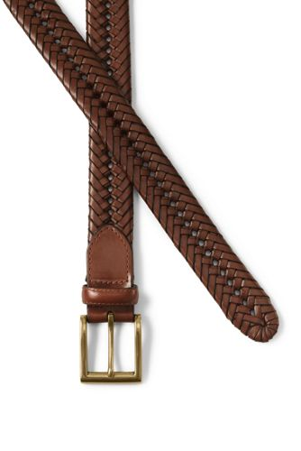 Men's Leather Braid Belt