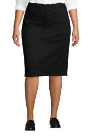 Women's Plus Size Denim Pull On Pencil Skirt