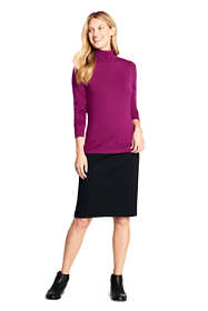 Women's Black Denim Pull On Pencil Skirt