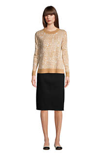 Women's Black Denim Pull On Pencil Skirt, Unknown