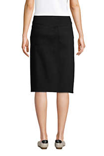 Women's Black Denim Pull On Pencil Skirt, Back