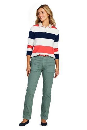 Women's Long Sleeve Polo Rugby Shirt Stripe