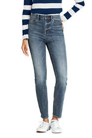 Women's Tall Water Conserve Eco Friendly High Rise Straight Leg Ankle Jeans - Blue