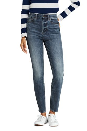 Jean Water Conserve Slim Stretch 7/8 Taille Haute, Femme Stature Standard