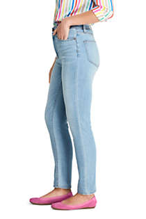 Women's Water Conserve Eco Friendly High Rise Slim Straight Leg Ankle Jeans - Blue, Unknown