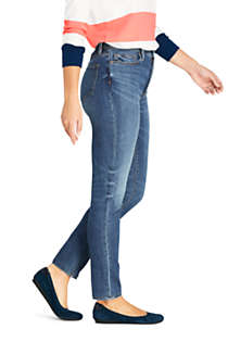 Women's Water Conserve Eco Friendly High Rise Slim Straight Leg Ankle Jeans - Blue, alternative image