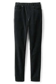 Women's Plus Size High Rise Velvet Pull On Skinny Pants