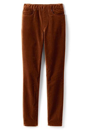 Women's Petite High Waisted Pull-on Velvet Legging Jeans