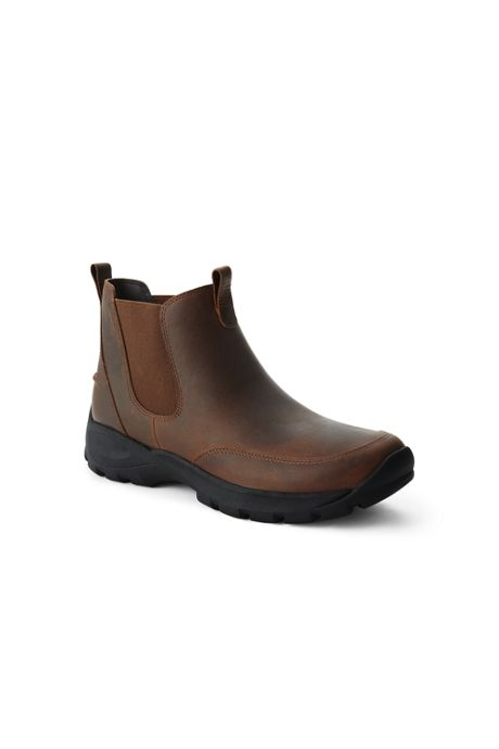 Men's All Weather Leather Slip On Chelsea Boots