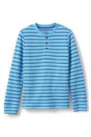 Boys Stripe Thermal Henley Shirt