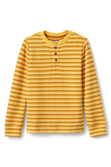 Boys' Stripe Thermal Henley Shirt