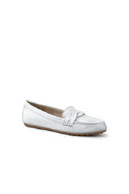 Women's Comfort Leather Slip On Loafer Shoes