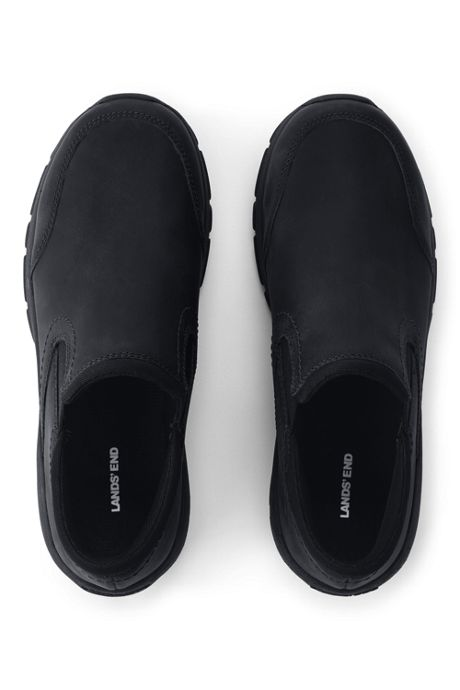 Women's All Weather Leather Slip On Moc Shoes
