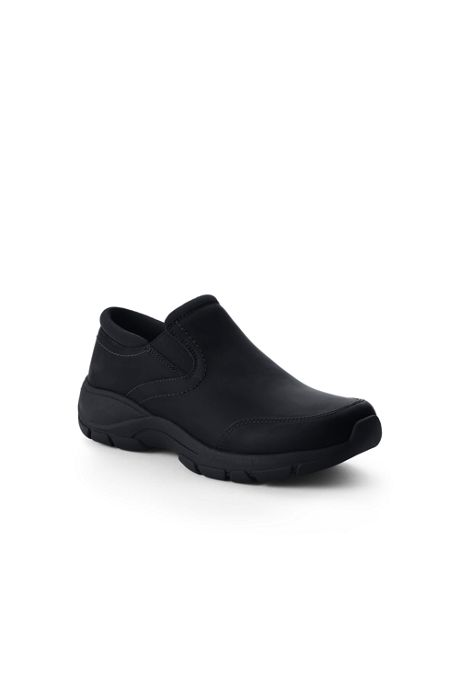 Women's Wide Width All Weather Leather Slip On Moc Shoes