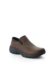 School Uniform Women's Wide Width All Weather Leather Slip On Moc Shoes