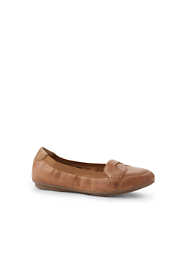 Women's Comfort Elastic Leather Slip On Loafer Shoes