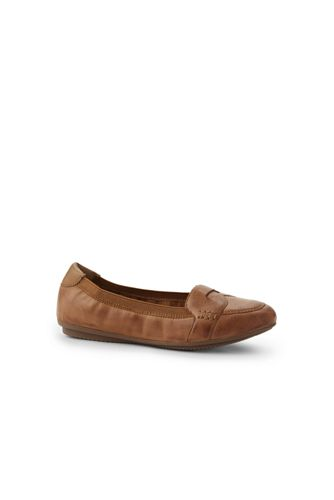 Women's Comfort Elastic Leather Loafers