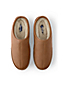 Men's Leather Slippers with Shearling Lining