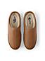 Pantoufles en Cuir Intérieur Shearling, Homme Pied Standard