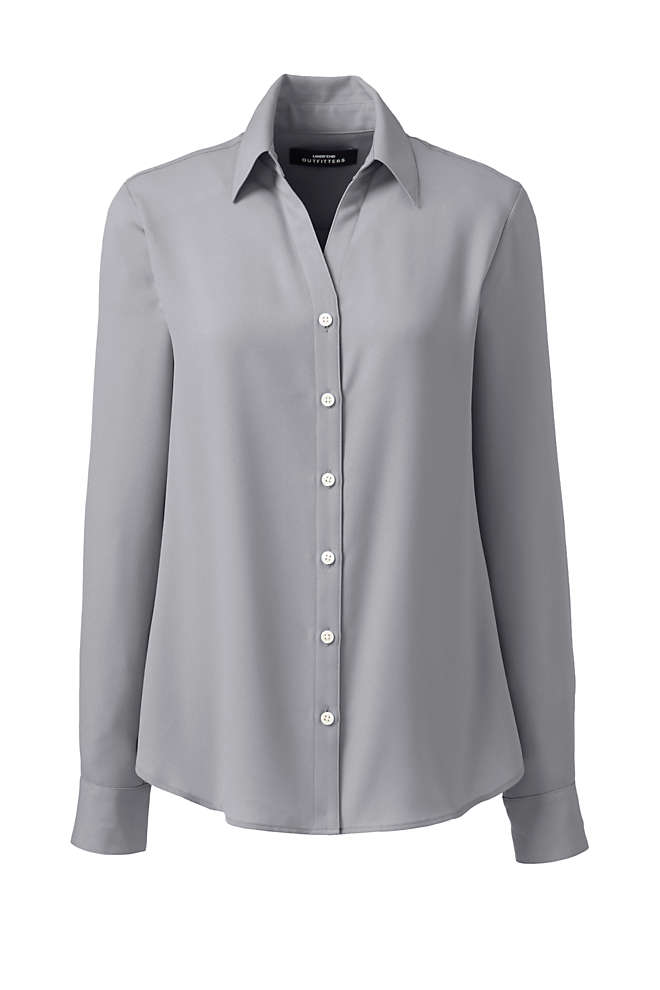 Women's Long Sleeve Crepe Blouse, Front