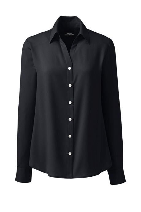Women's Long Sleeve Crepe Blouse