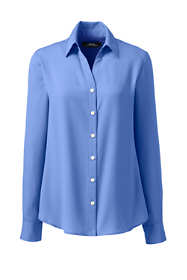 Women's Plus Size Long Sleeve Crepe Blouse