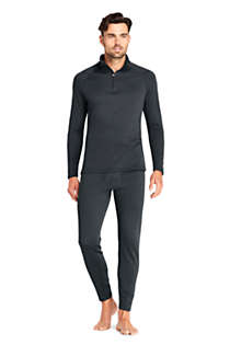 Men's Tall Quarter Zip Heavyweight Thermaskin Long Underwear, alternative image