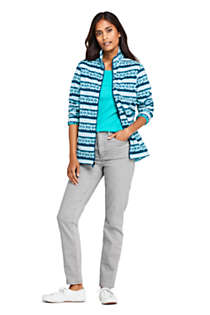 Women's Petite Print Full Zip Fleece Jacket, Unknown