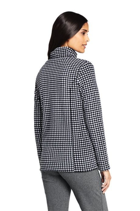 Women's Petite Print Full Zip Fleece Jacket