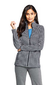 Women's Tall Print Full Zip Fleece Jacket