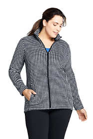 Women's Plus Size Print Full Zip Fleece Jacket