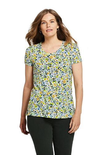 Women's Floral Linen/Cotton Twist Neckline Tunic