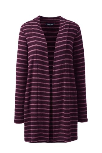 Women's Super-soft Brushed Jersey Stripe Cardigan